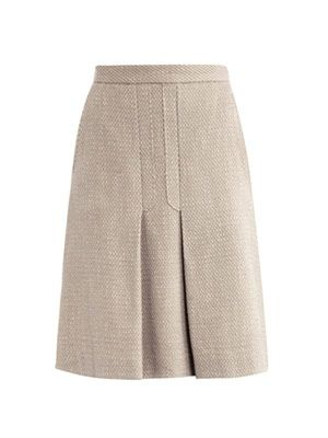 Textured woven skirt