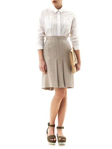 Freda Textured woven skirt
