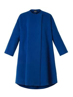Wool and cashmere-blend trapeze coat