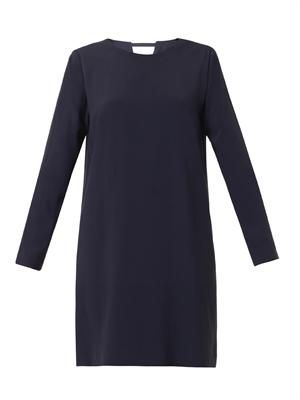 Notch crepe tunic dress