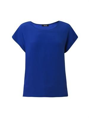 Scoop-neck silk T-shirt