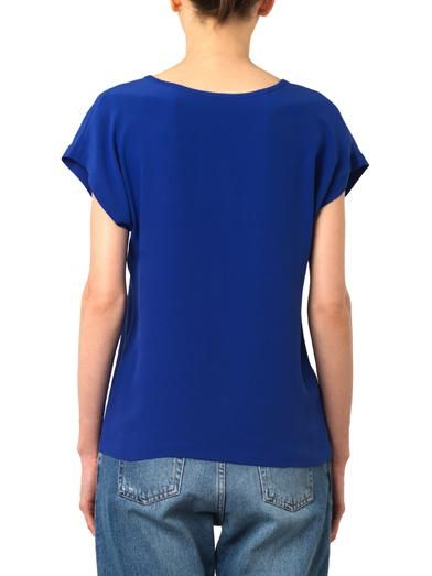 Freda Scoop-neck silk T-shirt