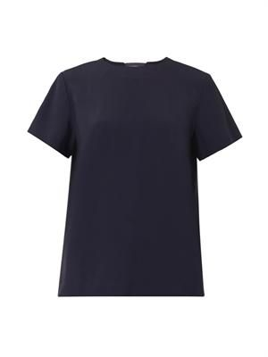 Notch crepe T-shirt