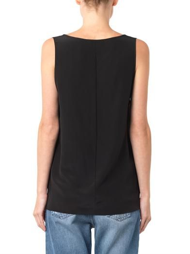 Freda Scoop-neck sleeveless silk top