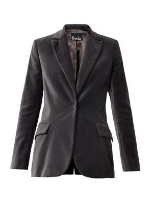 Notch-lapel velvet blazer