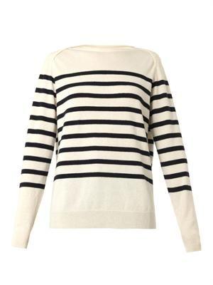 Breton-stripe cashmere sweater