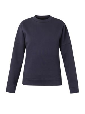 Structured-sleeve sweatshirt