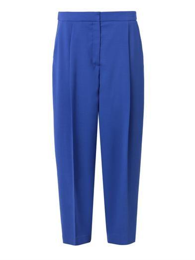 Freda Balloon-leg cropped wool trousers
