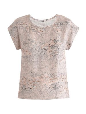 Speckle-print silk blouse