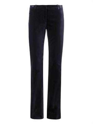 Flared-leg velvet trousers