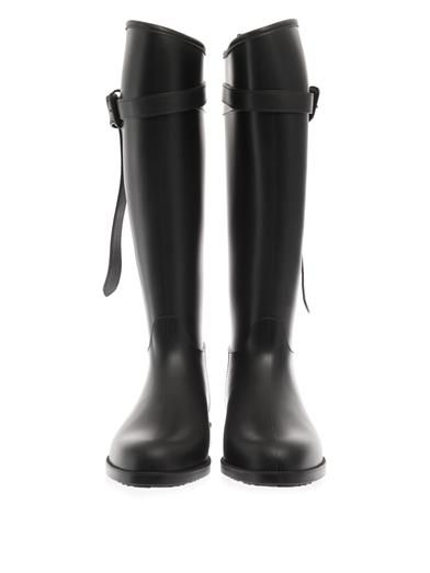 Burberry Brit Belted equestrian rain boots
