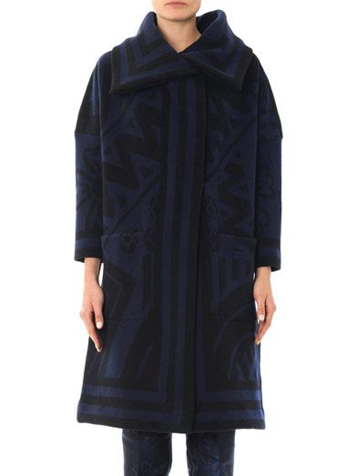 Burberry Prorsum Wool and cashmere blanket coat