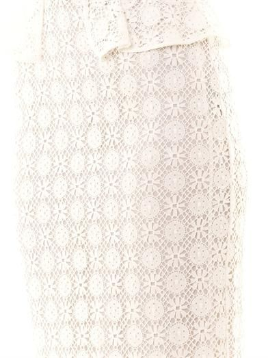 Burberry Prorsum Lace peplum pencil skirt