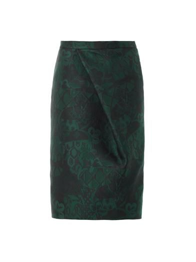 Burberry Prorsum Trellis-jacquard pencil skirt