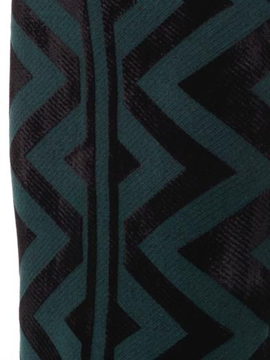 Burberry Prorsum Geometric compact-knit pencil skirt
