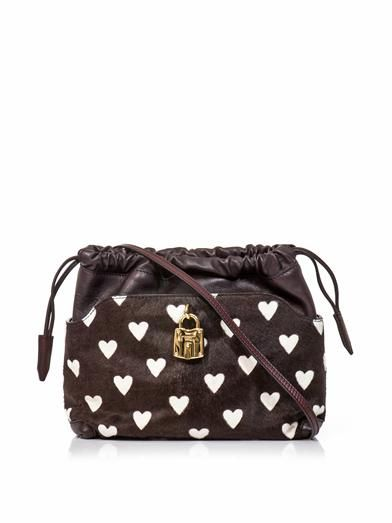 Burberry Prorsum Little Crush heart calf-hair bag