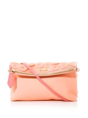 The Petal leather clutch