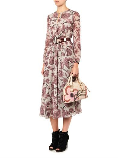 Burberry Prorsum Floral-print silk-georgette dress