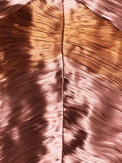 Burberry Prorsum Metallic lamé pleated bustier dress