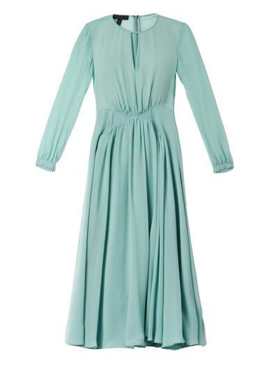Burberry Prorsum Pleated silk-georgette dress