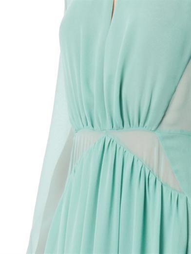 Burberry Prorsum Pleated silk-georgette dress