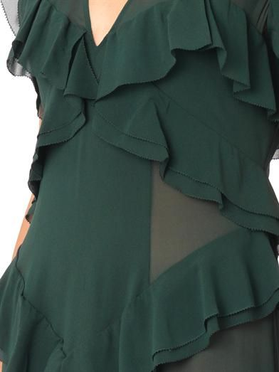 Burberry Prorsum Layered ruffled silk dress