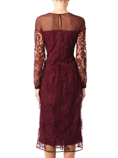 Burberry Prorsum Embroidered-tulle dress