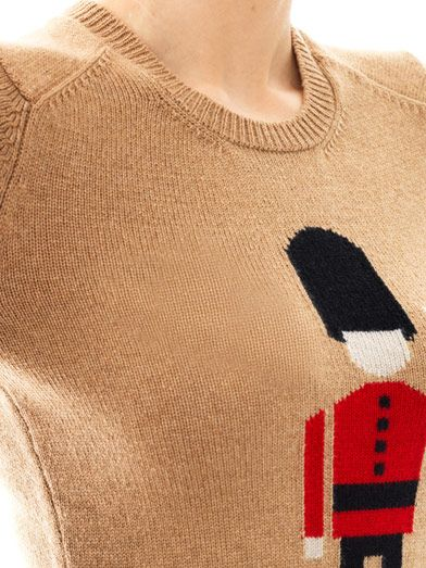 Burberry Prorsum Queen's Guard intarsia-knit sweater