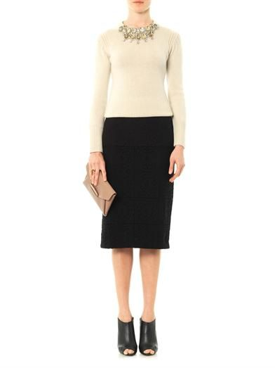 Burberry Prorsum Embellished cashmere sweater