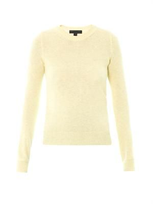Cashmere-blend drape-back sweater
