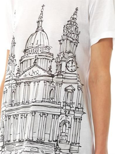 Burberry Prorsum St Paul's Cathedral-print T-shirt