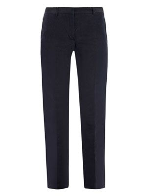 Linen silk cropped trousers