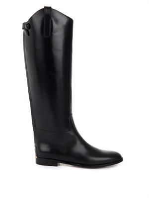 Albert Bridge leather riding boots