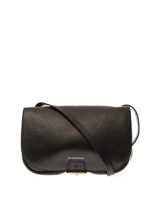 Bonded-leather cross-body bag