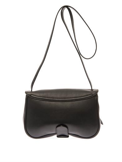 Burberry London Bonded-leather cross-body bag