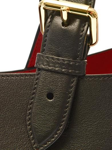 Burberry London Bonded-leather portrait tote
