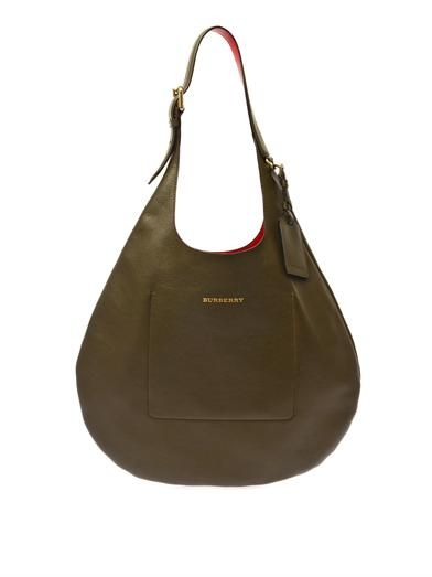 Burberry London Bonded leather hobo bag