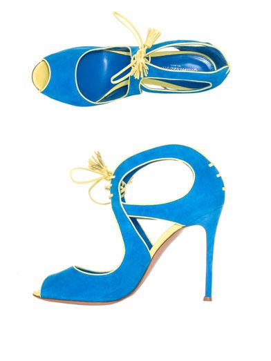 Gianvito Rossi Suede bolero lace-up sandal