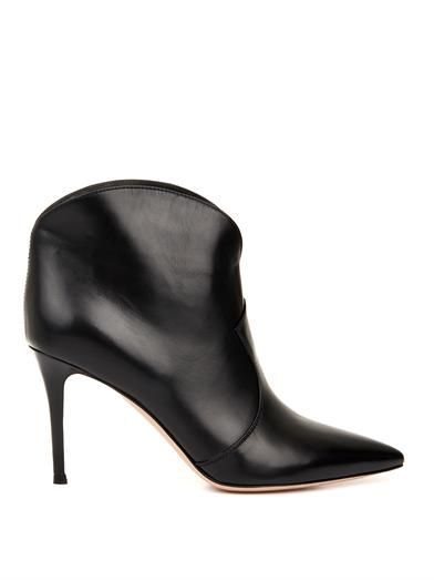 Gianvito Rossi Mable leather ankle boots