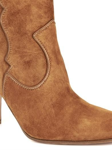 Gianvito Rossi Pearl suede ankle boots