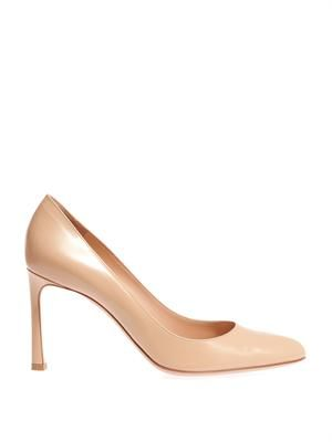Almond-toe leather pumps