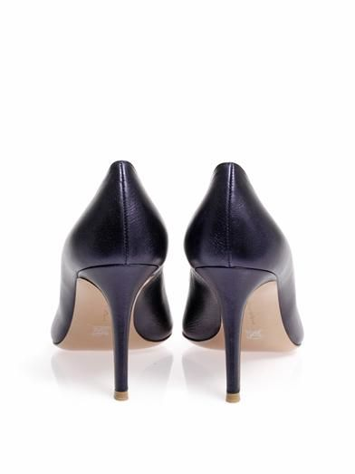 Gianvito Rossi Business point-toe leather pumps