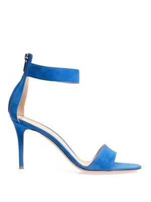 Ankle-strap suede sandals
