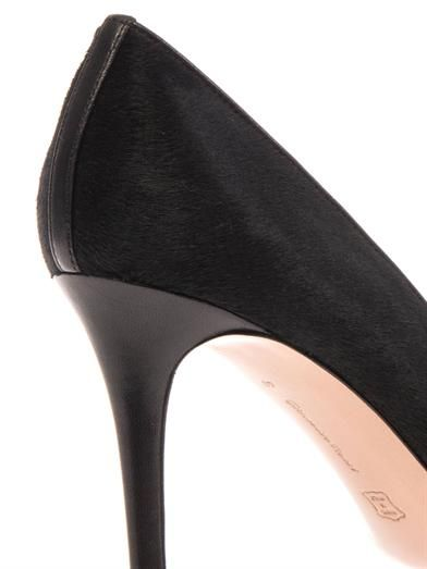 Gianvito Rossi Business calf-hair and leather pumps
