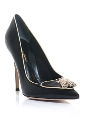 Tassel point-toe pumps