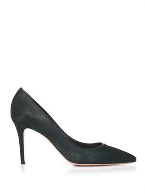Ponyhair point-toe pumps