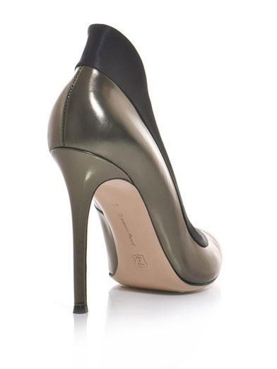 Gianvito Rossi Satin contrast tux pumps