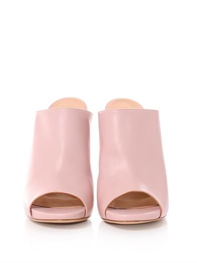 Gianvito Rossi Nappa leather mules