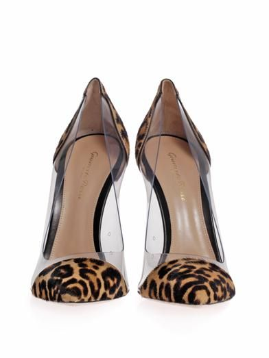 Gianvito Rossi Leopard pony hair and PVC pumps