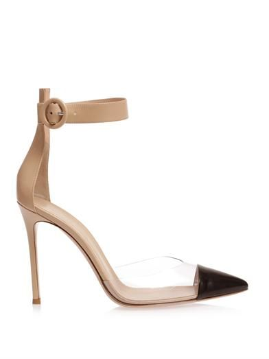 Gianvito Rossi Leather and perspex pumps